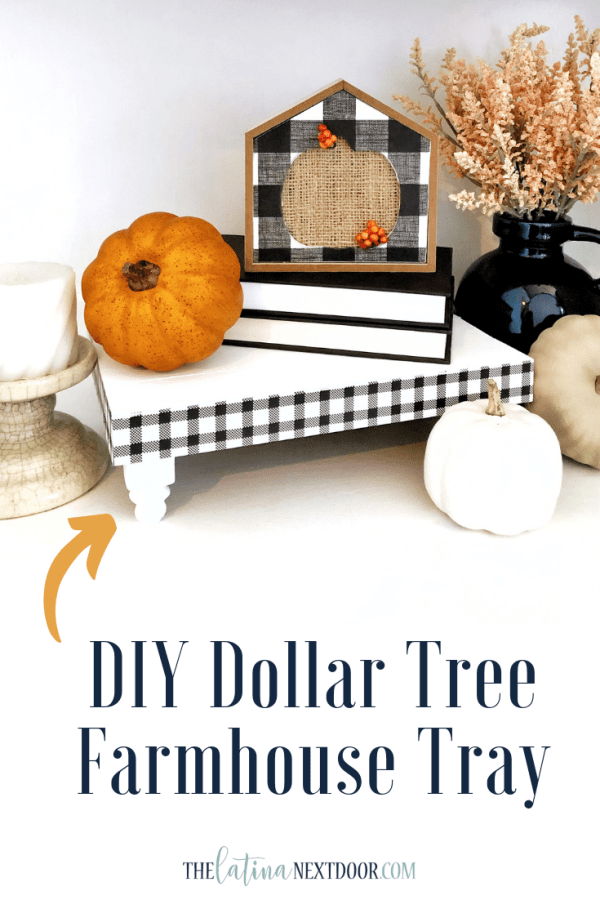 DIY Dollar Tree Farmhouse Tray Pin DIY Dollar Tree Farmhouse Tray