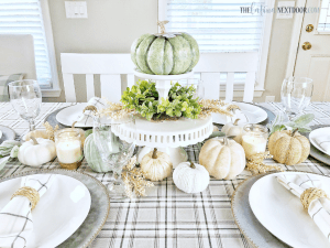 %name Feminine Fall Farmhouse Tablescape