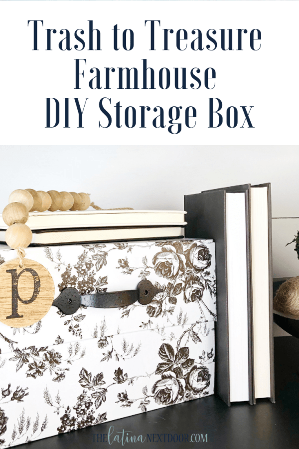 Trash to Treasure Farmhouse Storage Box Pin Trash to Treasure Farmhouse Storage Box