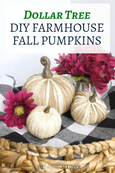Dollar Tree DIY Farmhouse Fall Pumpkins