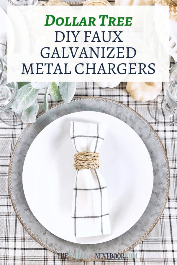 Dollar Tree DIY Galvanized Metal Chargers DIY Dollar Tree Galvanized Metal Chargers