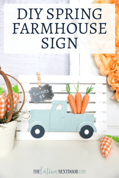 DIY Spring Farmhouse Sign