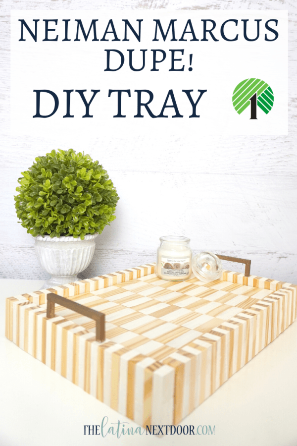 Look for Less DIY Tray Pin Look for Less Challenge DIY Wood Tray