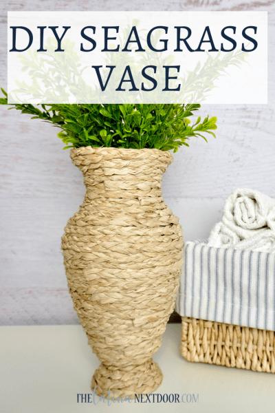 DIY Seagrass Vase