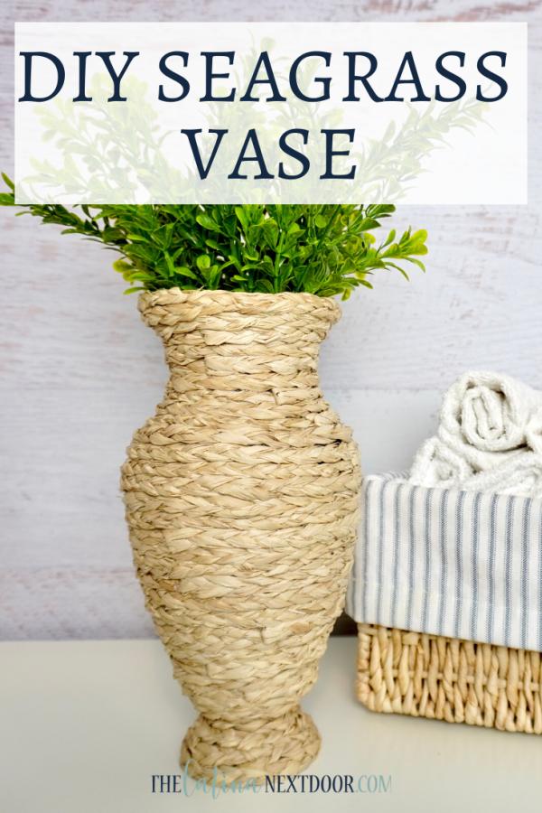 DIY Seagrass Vase DIY Seagrass Vase