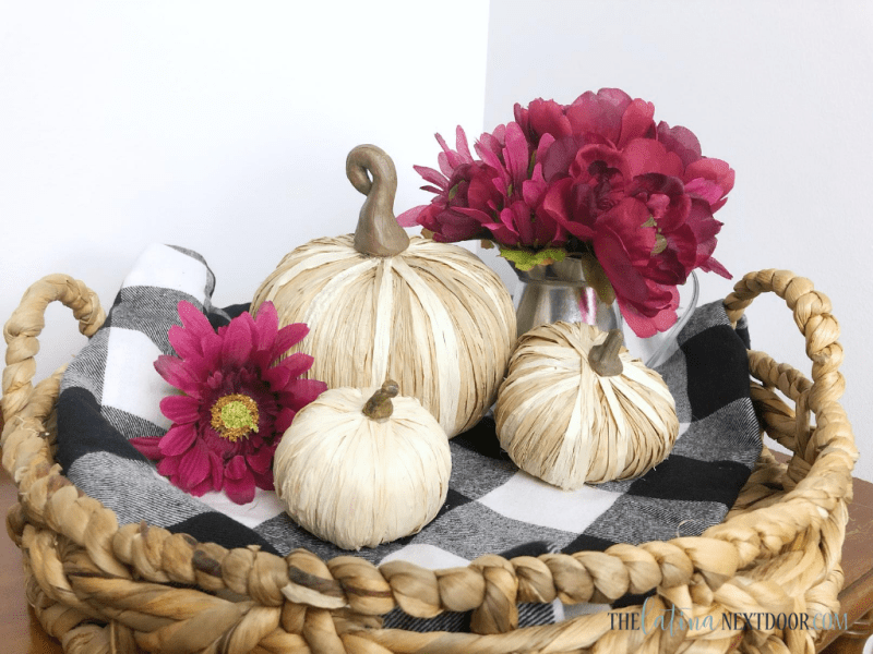 Raffia Pumpkins 7 High End Dollar Tree Fall DIYs