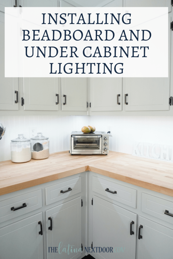 Beadboard and Under Cabinet Lighting PIN Beadboard Backsplash and Under Cabinet Lighting
