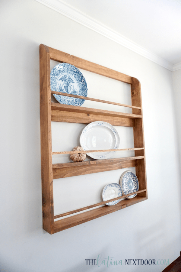 DIY Farmhouse Plater Rack 9 DIY Cottage Farmhouse Kitchen Reveal
