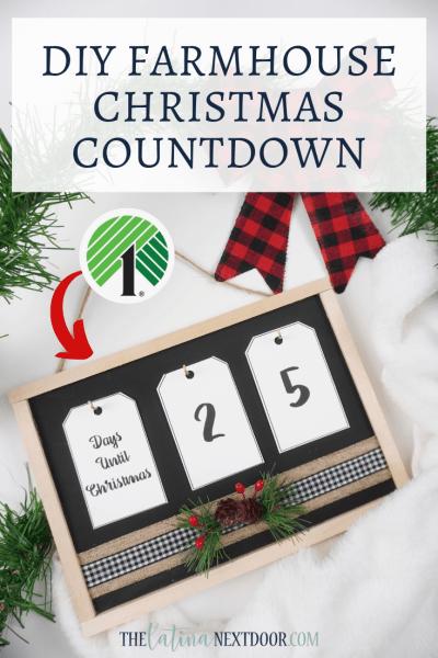 Dollar Tree Dollar Tree Farmhouse Christmas Countdown Christmas Countdown