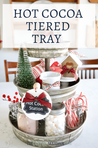 Hot Cocoa Tiered Tray