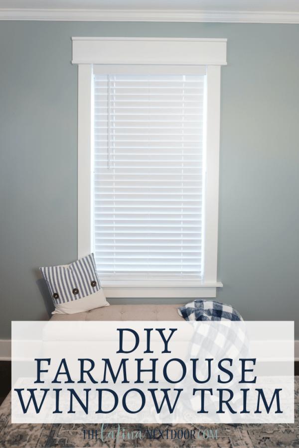 DIY Farmhouse Window Trim DIY Window Trim