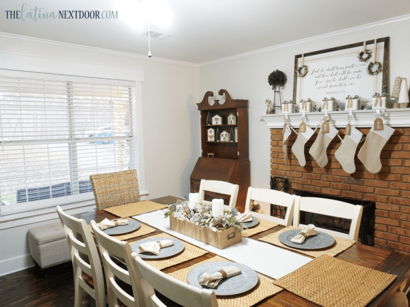 Dining Before 2 Cottage Farmhouse Dining Room Reveal