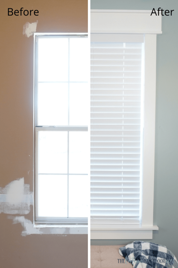 Window Trim Split Screen DIY Window Trim