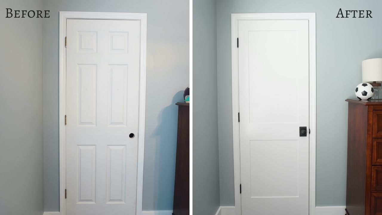 Doors Before After Replacing Interior Doors