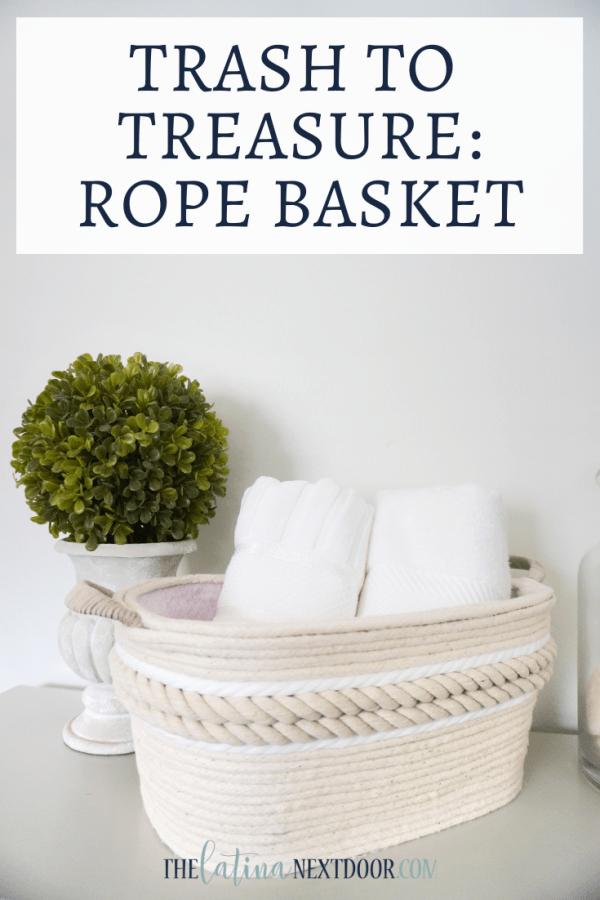 Trash to Treasure Rope Basket Trash to Treasure Rope Basket