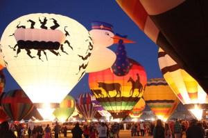 balloon glow photo