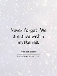 alive within mysteries