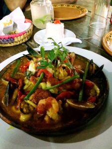 Seafood at dobi's
