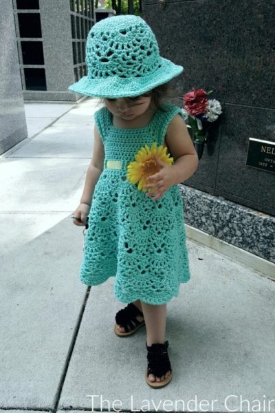Lacy Shells Dress - Free Crochet Pattern - The Lavender Chair