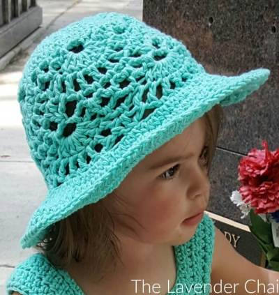 Lacy Shells Sun Hat - Free Crochet Pattern - The Lavender Chair