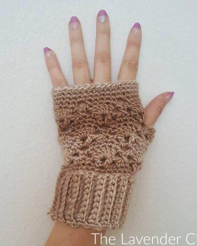 Vintage Fingerless gloves - Free Crochet Pattern - The Lavender Chair