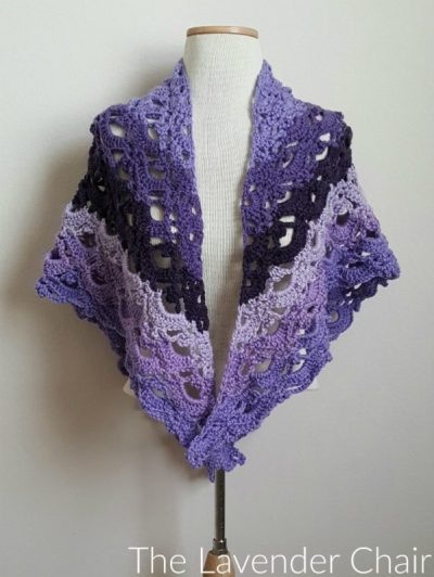 Mirrored Gemstone Lace Shawl - Free Crochet Pattern - The Lavender Chair 2