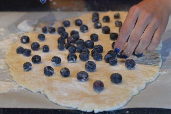 Blueberry Lemon Glazed Scones