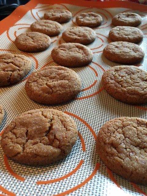 Grandma's Spicy Gingersnap Cookies