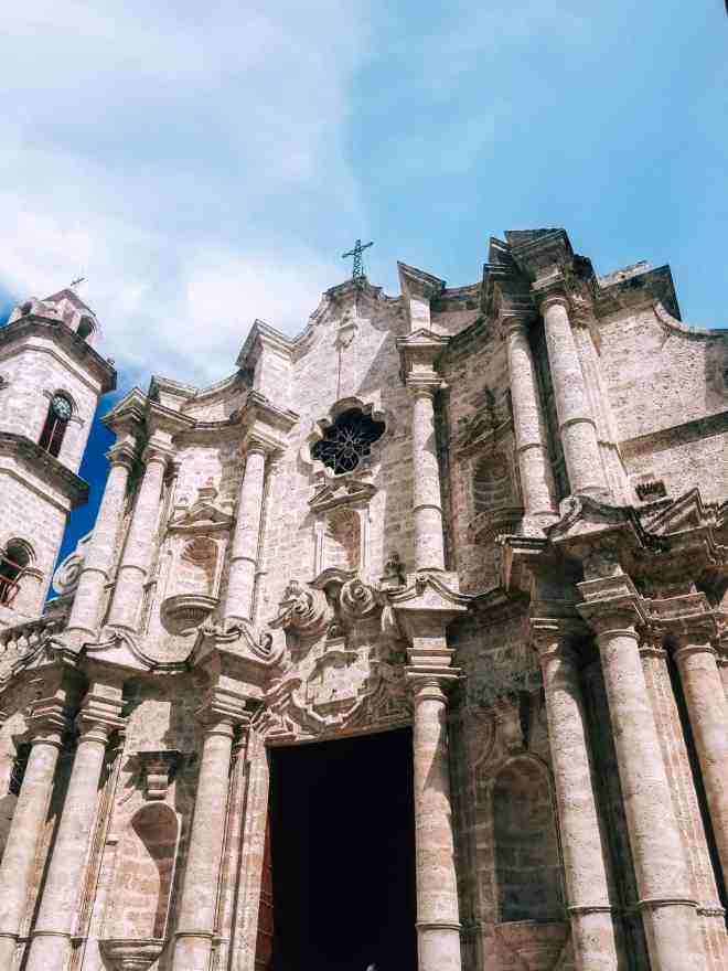 Cathedral of San Cristobal entrance Havana Cuba