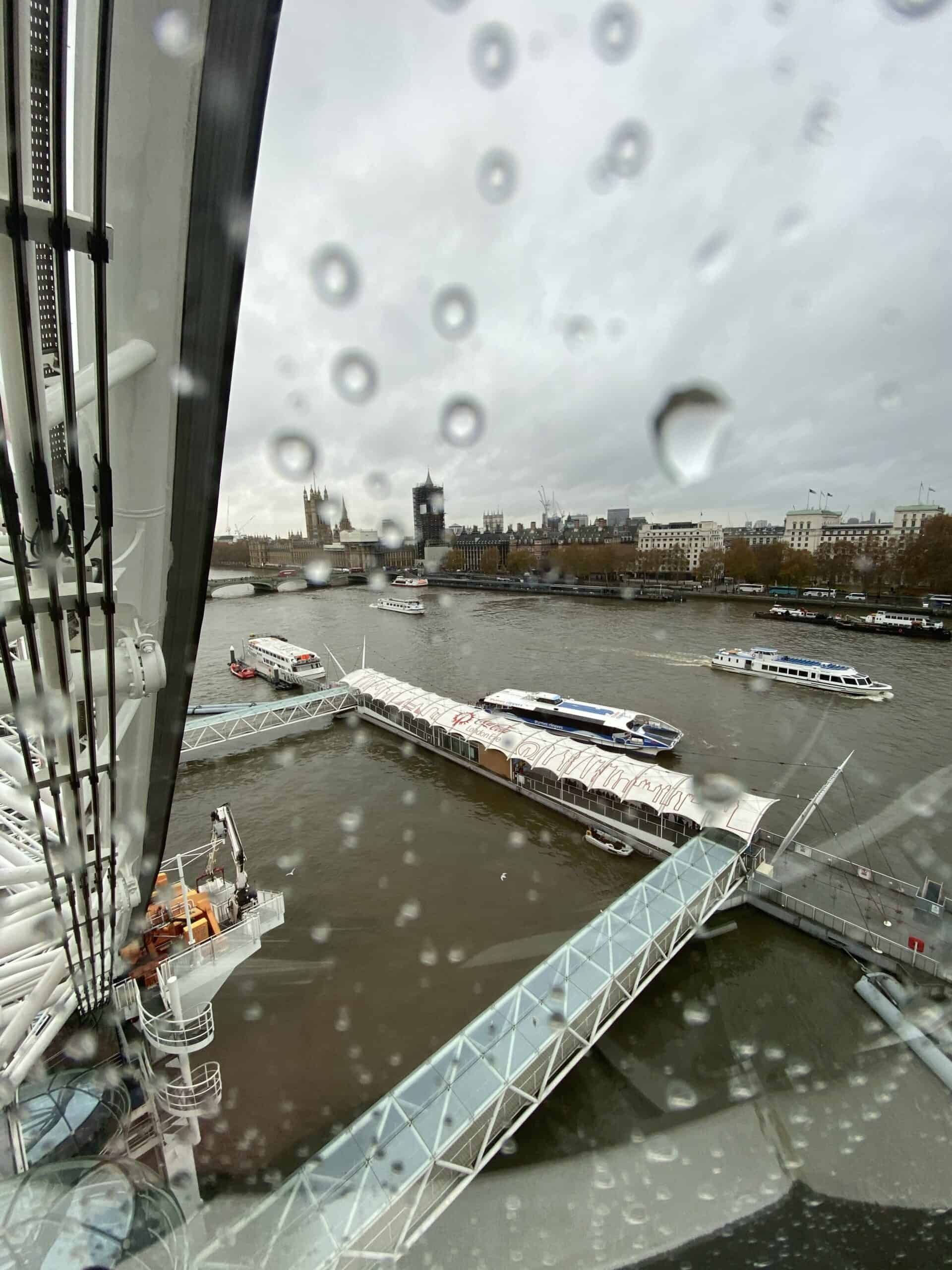 Thames River View Rain