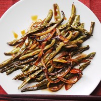 Roasted Green Beans With Sweet Teriyaki Sauce