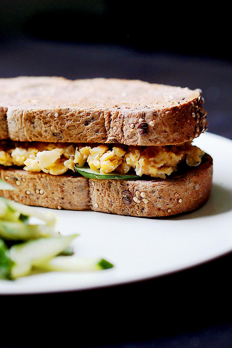 Easy Vegan Chickpea Tuna Sandwich