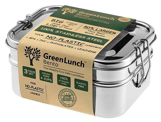 Greenlunch stainless is BPA free and holds more an 6 cups of food