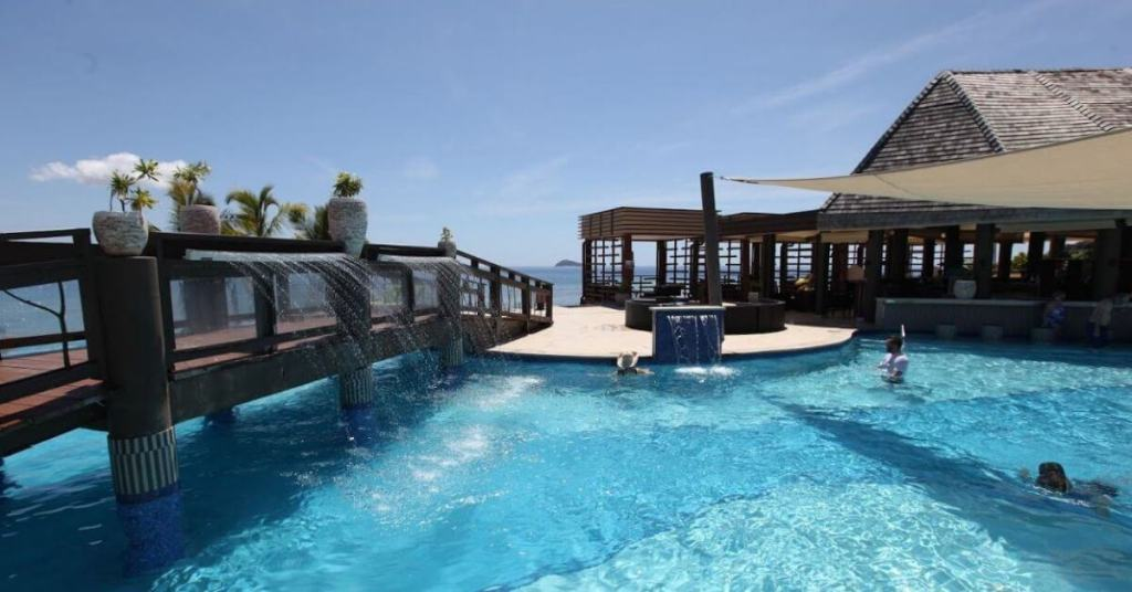 Stay lazy at the Mana Island Resort pool area