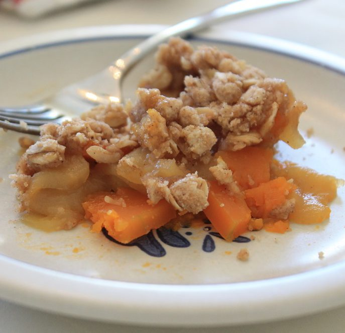 Butternut Squash Apple Crisp | The Lazy Vegan Baker