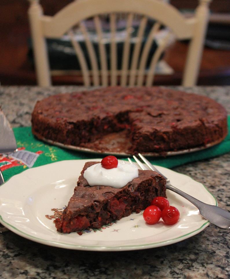 Chocolate Cranberry Brownies | The Lazy Vegan Baker