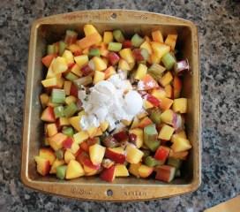 Peach Rhubarb Cobbler | The Lazy Vegan Baker