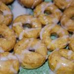 Pumpkin Mini Donuts w/ Cinnamon Glaze