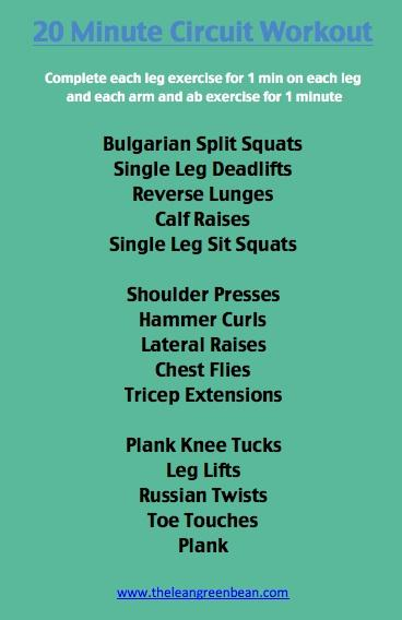 20 Minute Cardio Workout