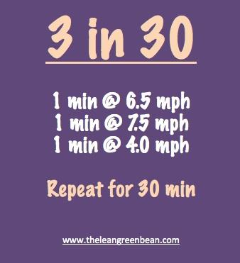 3 Mile 30 Minute Treadmill Workout