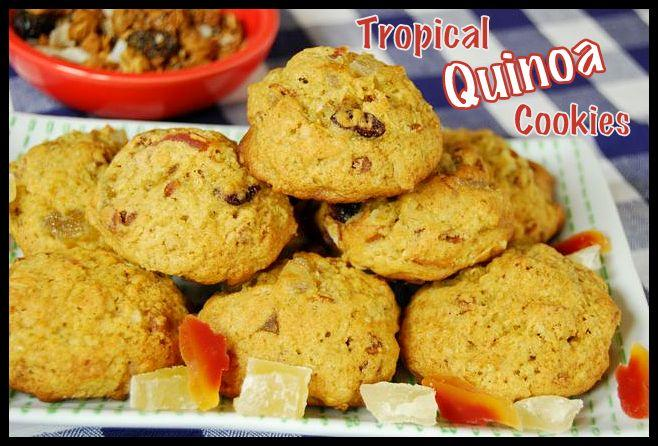 This non-traditional cookie gets a protein boost from quinoa and a tropical twist thanks to the dried fruit!