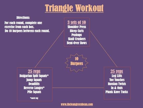Triangle Cardio Workout