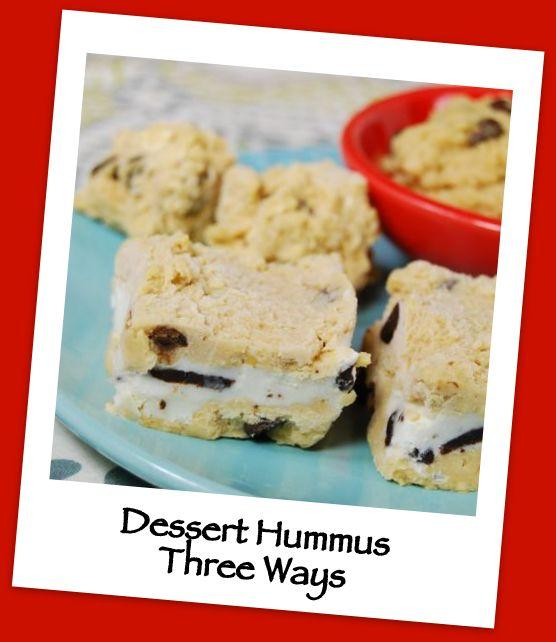 Hummus isn't just for veggies! Try this lightly sweetened dessert hummus for a healthy treat!