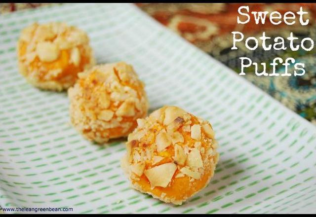 These bite-sized Sweet Potato Puffs require just a few ingredients and make a fun party appetizer!
