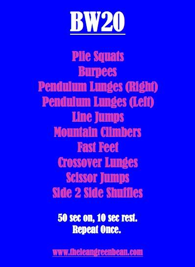 Bodyweight 20 Minute Workout