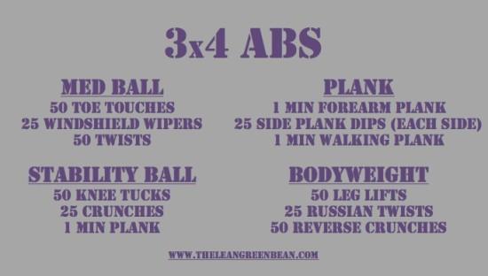 3x4 Ab Workout