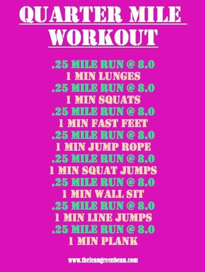 Quarter Mile Treadmill Workout