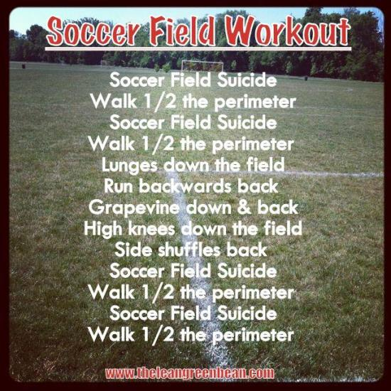 Soccer Field Cardio Workout