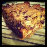 Candy Stuffed Peanut Butter Cookie Bars