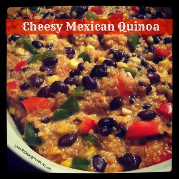 This Cheesy Mexican Quinoa recipe is perfect for a quick, healthy dinner. Make it vegetarian or add some leftover chicken and customize with your favorite vegetables!